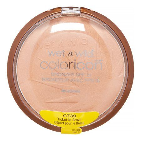 Wet N Wild Color Icon Bronzer with SPF 15, Ticket To Brazil, Black