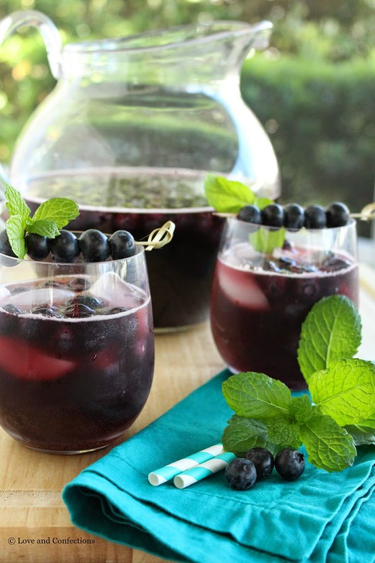 Check out @lovenconfection's twist on one of our summer favorites - Blueberry Sangria .