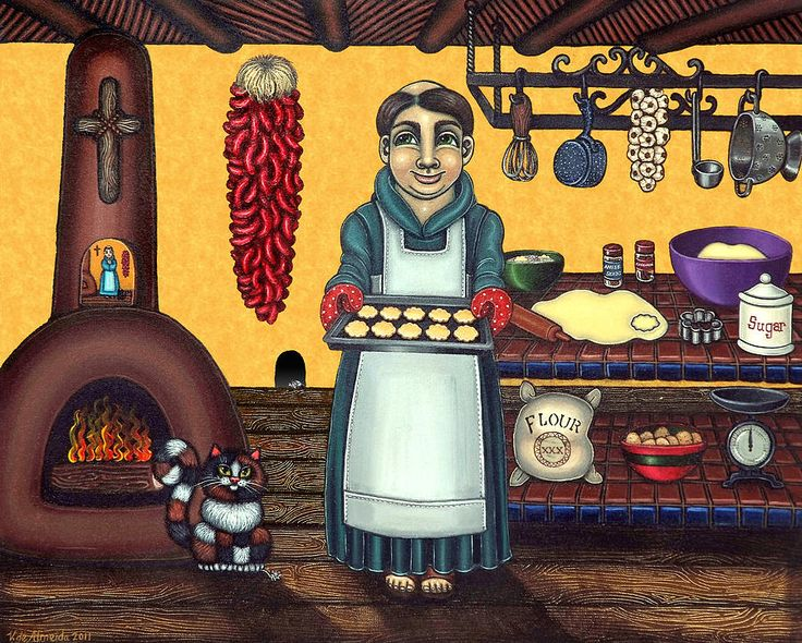 """ San Pascual's Biscochitos"" San Pascual Painting by Native New Mexico Artist Victoria de Almeida  www.victoriadealmeida.com"