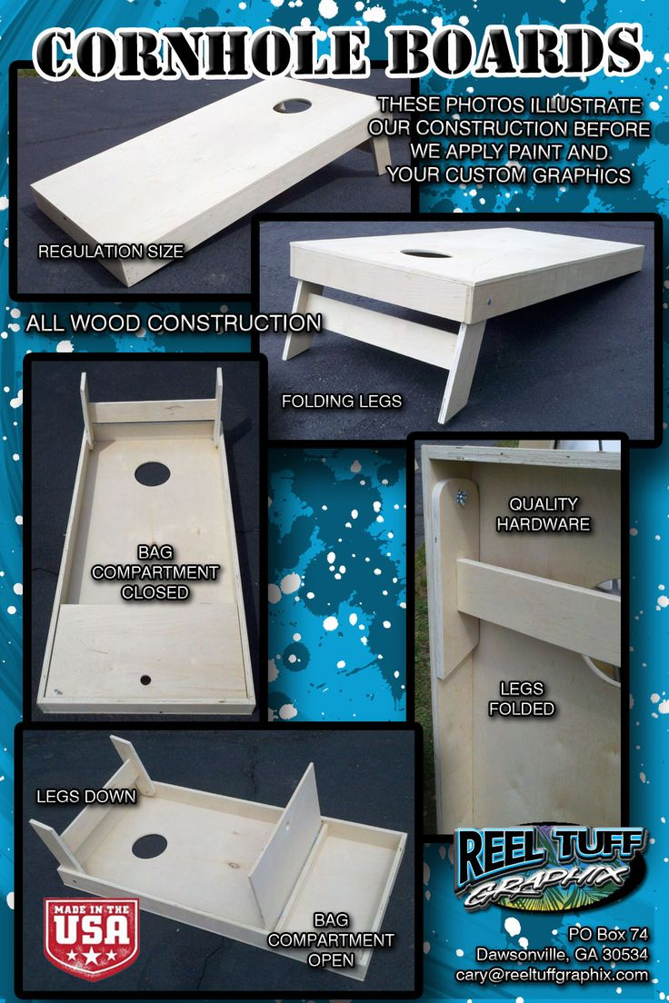 cornhole boards | Cornhole Boards - Wood ConstructionReelTuff Graphix