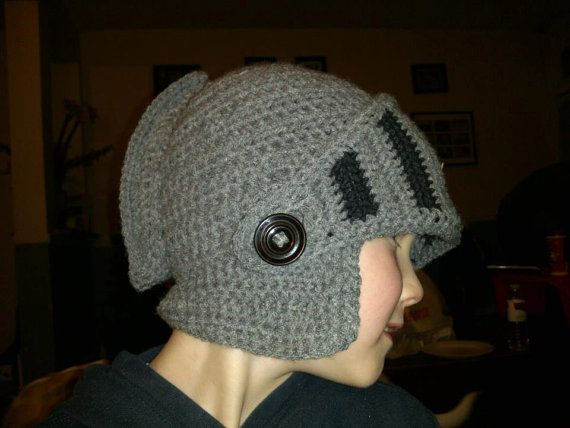 Introducing... Knight Helmets!! Just like Mike the Knight or your favorite Renaissance Faire! They face portion comes down to cover your chin and nose or stays up to look like a true knight's visor! Held on with Buttons for easy removal or to keep in place. Orders are coming in fast so place your's now!