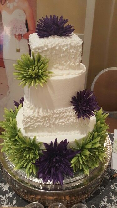 104 best the cakebox bahamas wedding cakes images on pinterest the cakebox bahamas buttercream finished wedding cake with rounds and squares accented with purple and green silk flowers junglespirit Gallery