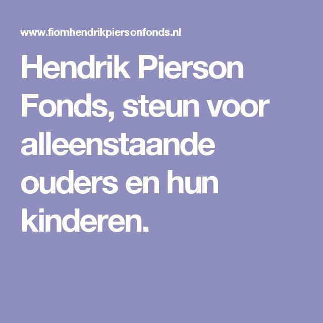 Hendrik Pierson Fonds, steun voor alleenstaande ouders en hun kinderen.