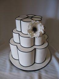 2013 Wedding Trend | Black Details - Chanel Petal wedding cake -classic...