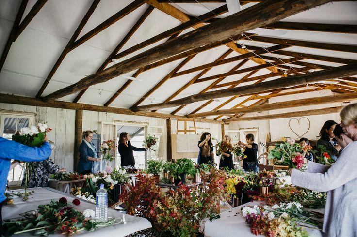 Image: Luisa Brimble Jardine Hansen Autumn Florals Workshop Glenmore House Australia