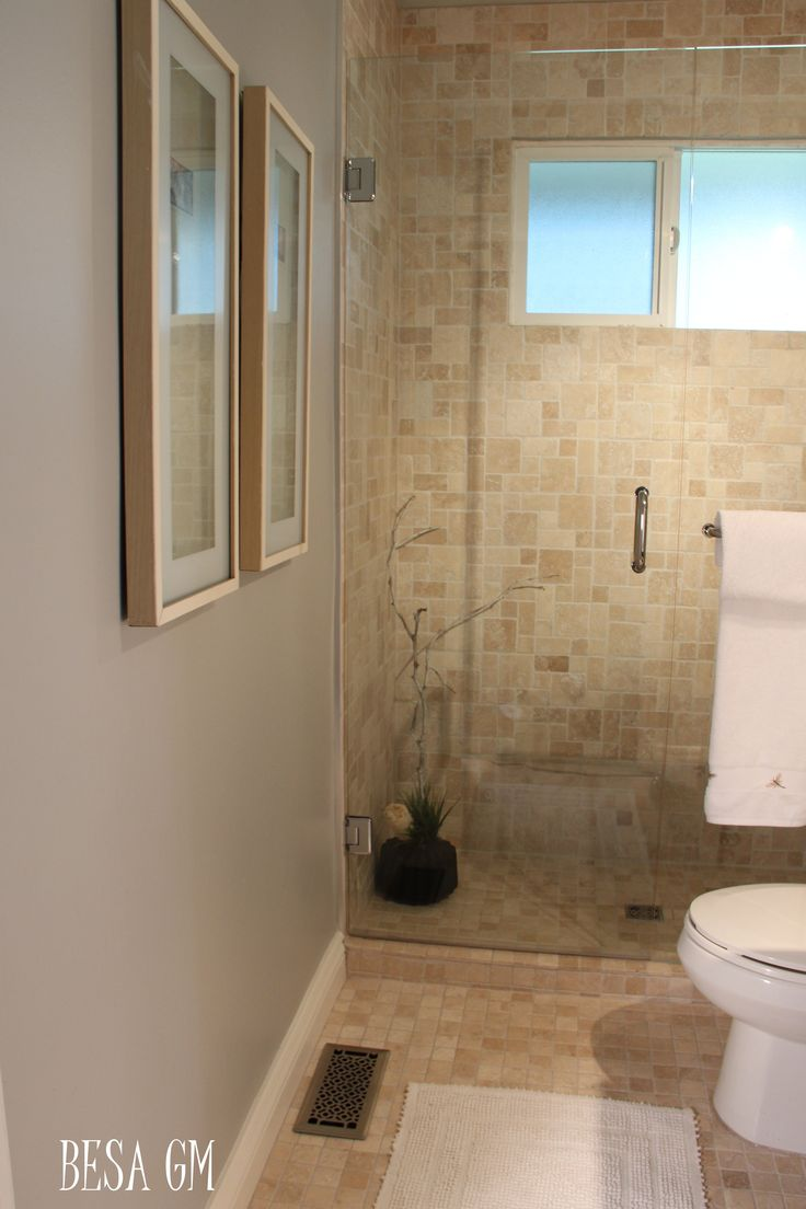 tub to shower conversion with same tile on floor and shower walls. Like look of continuous flow