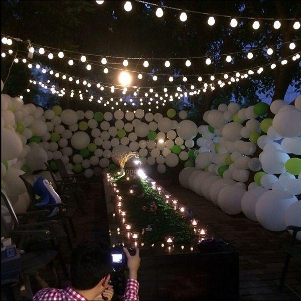 nueva novedad iluminacin exterior cm tamao grande secuencia de la bola led lmparas de alambre negro luces de la navidad boda de hadas del jardn