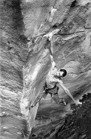 Climbing - nice position.