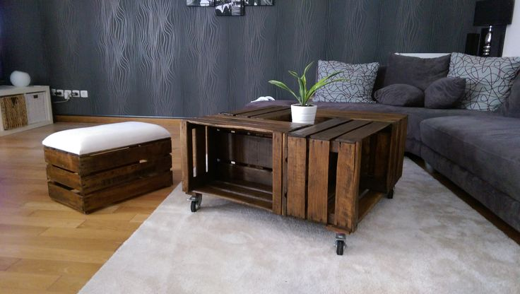 The 25 best ideas about table basse roulette on pinterest - Table basse palette roulettes ...