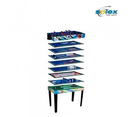 -  Price includes delivery till ground floor and assembly.         The 12 in 1 multi-function games table from Solex is packed with features and 12 great games; soccer, billiards, slide...