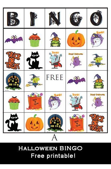 Halloween Bingo - Great for Class Parties