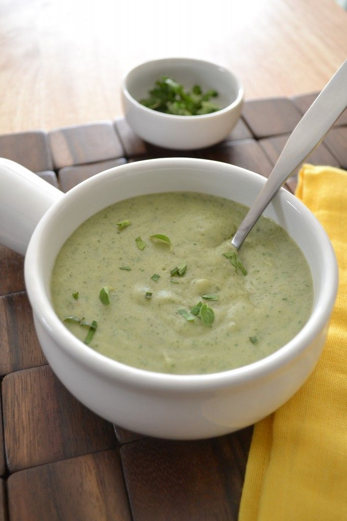 Vegan Creamy Potato and Herb Soup           Organize your favourite recipes on your iPhone or iPad with @RecipeTin! Find out more here: www.recipetinapp.com      #recipes #vegan #soup