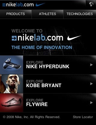 nike lab mobile website