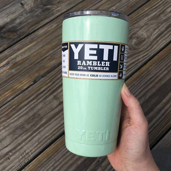 Mint Green Powder coated YETI 20 oz and 30 oz tumblers