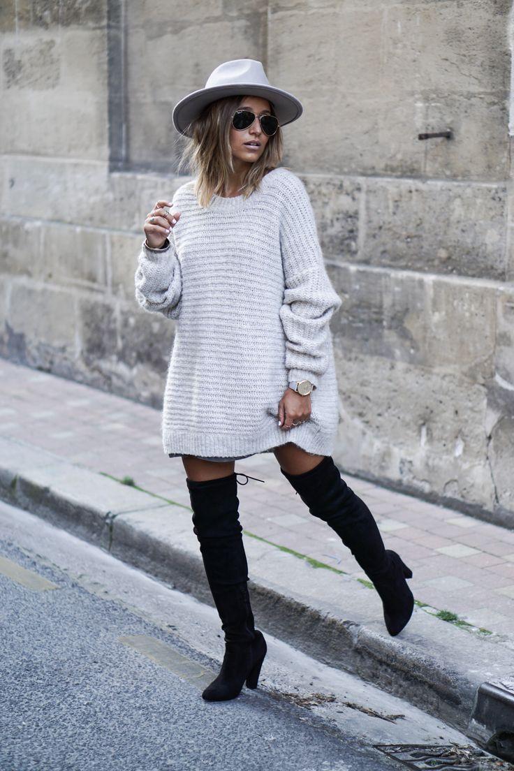 La blogueuse Noholita et sa petite robe en laine