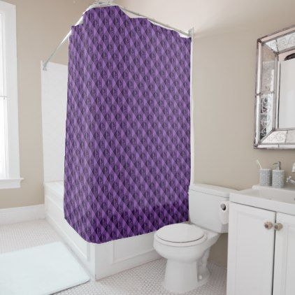 Purple Waffle Shower Curtain - patterns pattern special unique design gift idea diy
