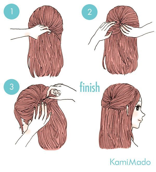 caelo preso com grampos - http://passaneura.com/cabelos/50-penteados-para-fazer-sozinha/