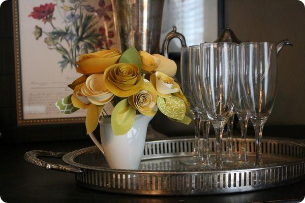 DIY Rolled Paper Flowers