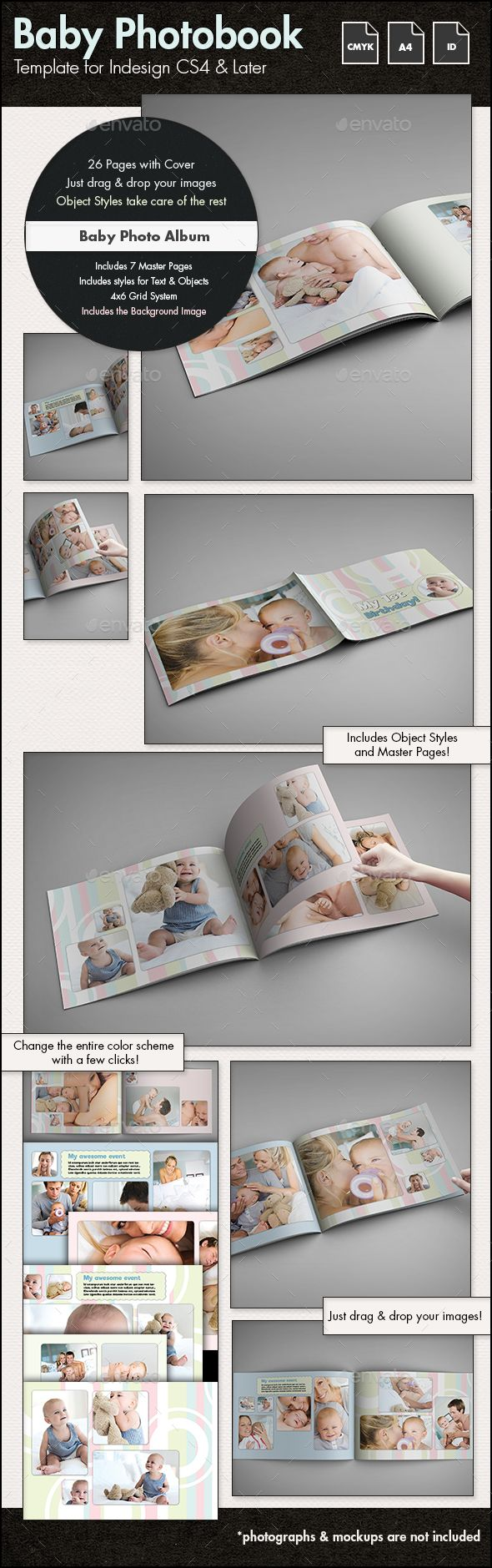 307 best Photo Album Templates images on Pinterest | Font logo ...