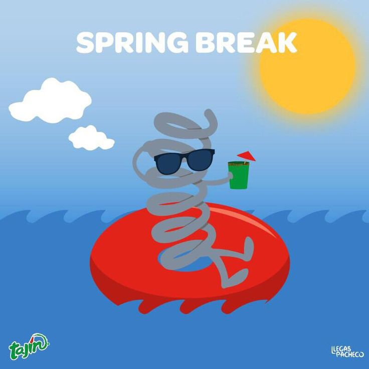 Hope you're enjoying/will enjoy your time off! #SpringBreak