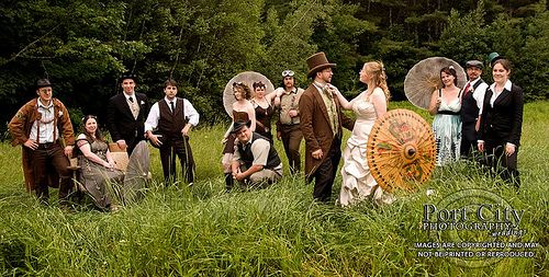 One of the ONLY steampunk weddings I've seen that looks genuinely classy, beautiful, and complete.