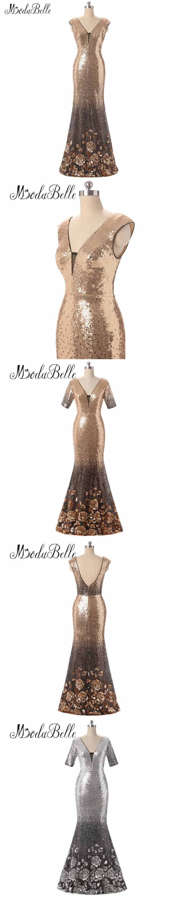 modabelle Silver/Gold Bridesmaid Dresses Long Party Gown With Sequins Robe Demoiselle D'honneur Party Wedding Guest Dress 2018