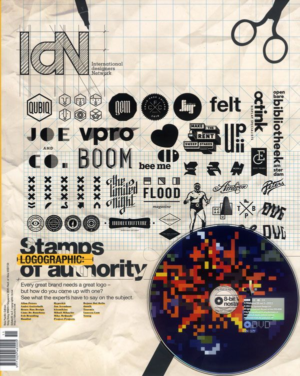 IdN cover- Logographic, stamps of authority issue