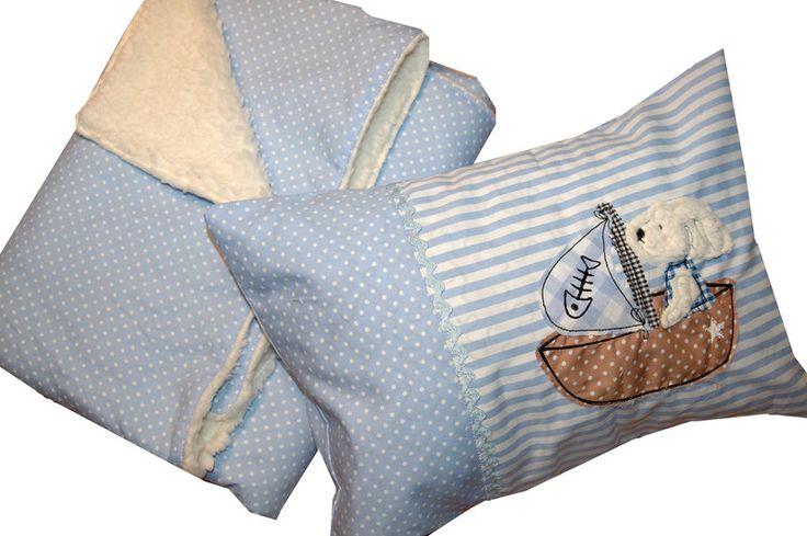 Kissen - Babykissen mit Namen und Babydecke - ein Designerstück von C-Fashion-Design bei DaWanda