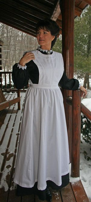 Agatha Apron ~ Ladies often wore aprons like this to keep their dresses clean while they worked.