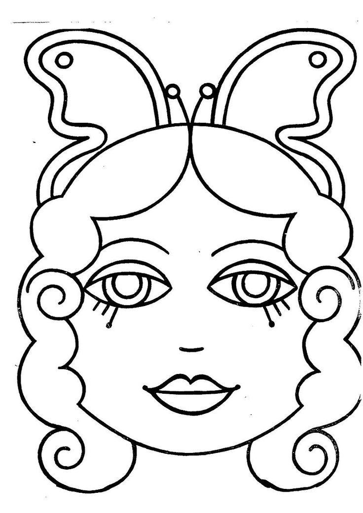 Caretas para imprimir y colorear - Dibujos para colorear - IMAGIXS