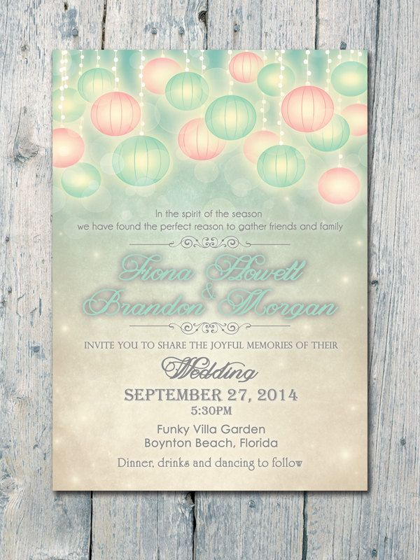 4189 best Mint Wedding Invitations images on Pinterest Mint