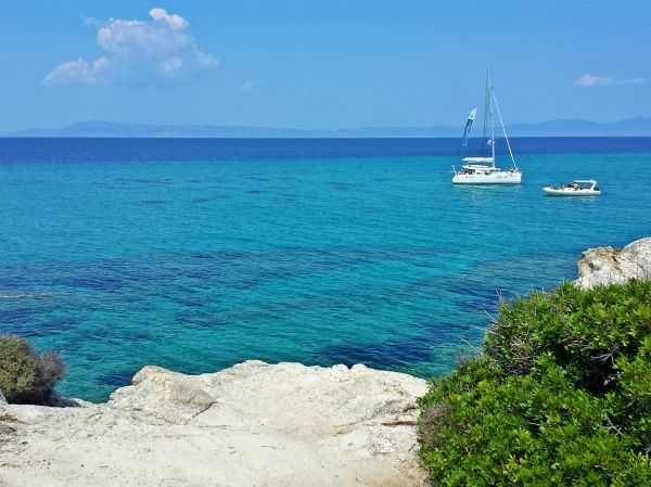Orange beach (Kavourotrypes), Halkidiki