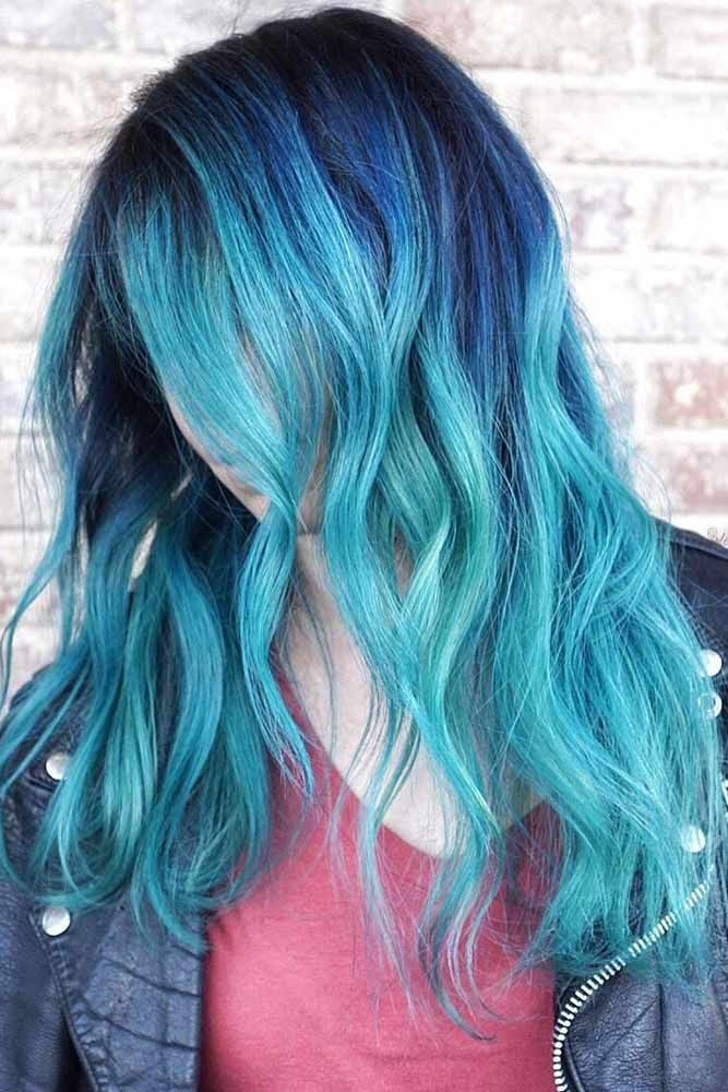 41 Ethereal Looks With Blue Hair Hair Color Dark Blue Hair