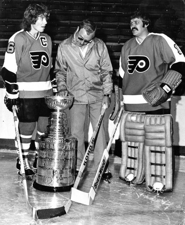 Bobby Clarke, Fred Shero and Bernie Parent | Philadelphia Flyers | NHL | Hockey