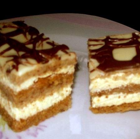 Karamelles-tejszínkrémes sütemény