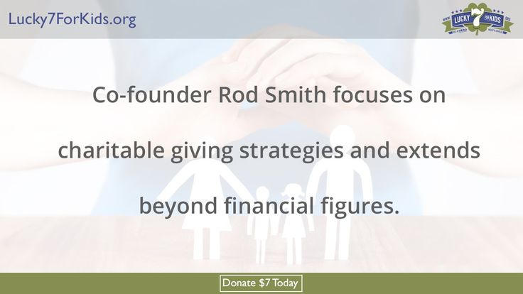 http://Lucky7ForKids.org/DonateNow. Rod Smith exemplifies how a professional athlete helps military children and their families get through hard times of loss. This should prove interesting.  Be a hero today and make a difference in the lives of military children of the fallen, wounded and deployed. DONATE $7 TODAY at http://Lucky7ForKids.org/DonateNow