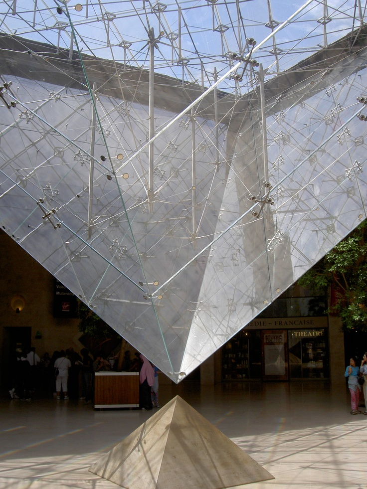 IM Pei : Pyramid at the Louvre -- this was amazing to see in person!