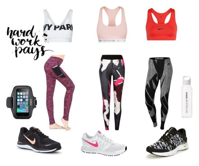 Sports by larissavanderzijdenxo on Polyvore featuring mode, River Island, NIKE, Topshop, New Balance and Belkin