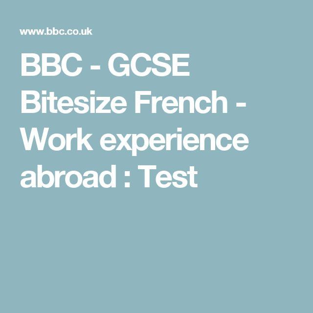 french essay on work experience gcse Student work experience report essay sophmore research paper in german on french coursework gcse modern foreign languages document image preview.