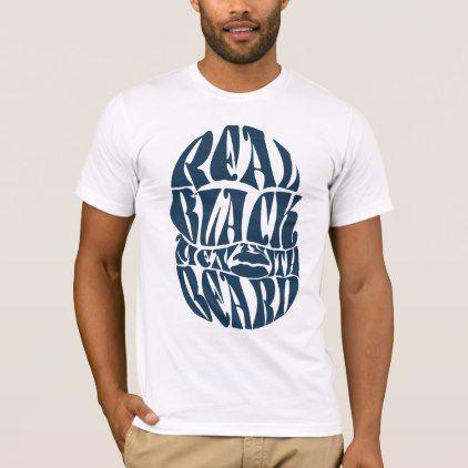 #Trendy PAGA Real Black Men With Beard T-Shirt