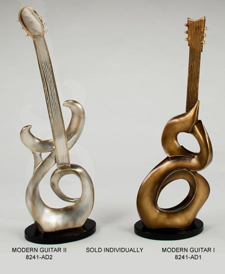 Modern Guitar Figurine Sculpture Statue Home D Cor Decorations Music Related Gifts Available