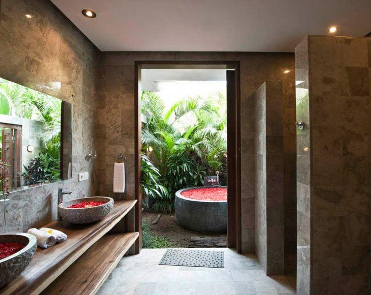 24 best bali thai inspiration images on pinterest for Balinese bathroom design