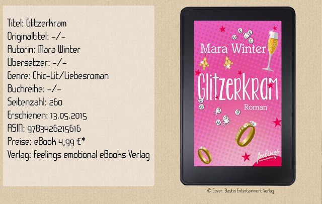 """""""Glitzerkram"""" von Mara Winter ist ein erfrischender und unterhaltsamer Roman mit verrückten und liebenswerten Charakteren und einer besonderen Portion trockenen Humor. Ein empfehlendes Buch zum Abschalten und Wohlfühlen!"""