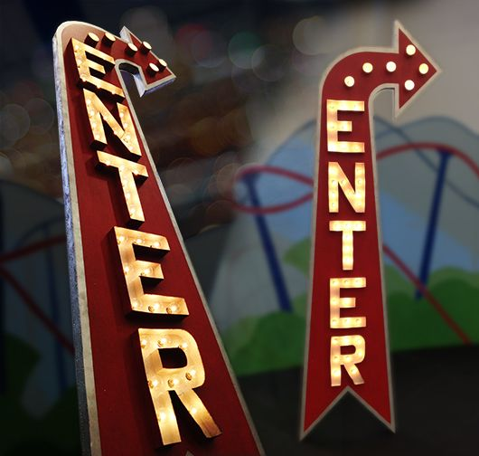"""Step-by-step tuturial to build the """"Enter"""" VBS sign for Colossal Coaster World!"""