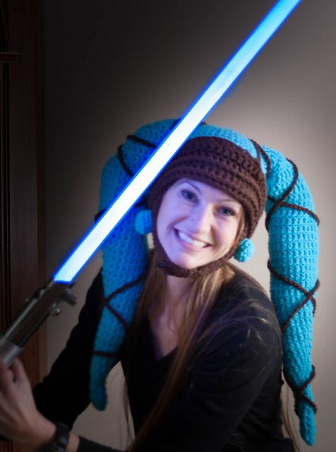Star Wars Twi'lek Hat:  There is a link to a free pattern here-but after reading all the info from others' finished projects I ditched the pattern and made my own.  Turned out way better than I could have ever imagined!