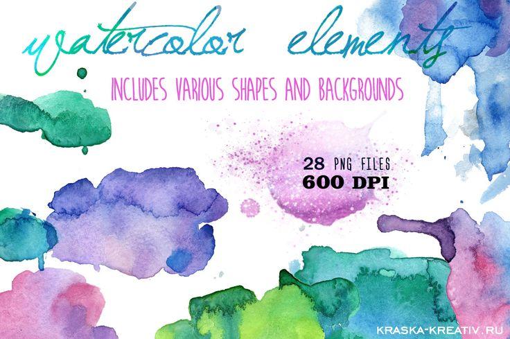FREE! watercolor SPLOTCHES   by Krasnih Katerina