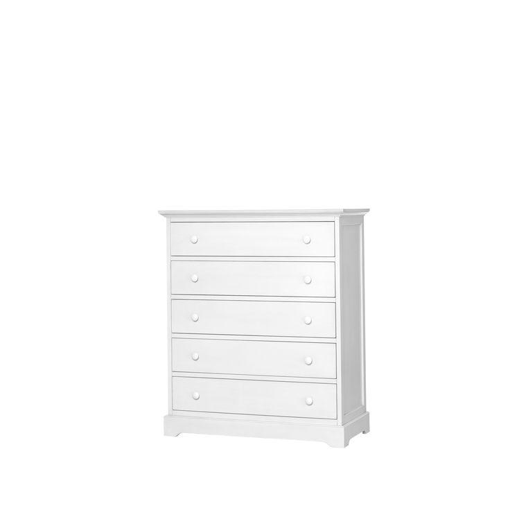 Munire Chesapeake 5 Drawer Chest-White (White), Size 5-drawer