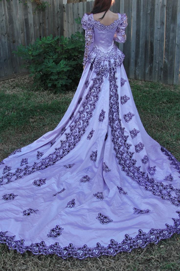 226 best blue purple wedding dresses images on pinterest for Blue gothic wedding dresses