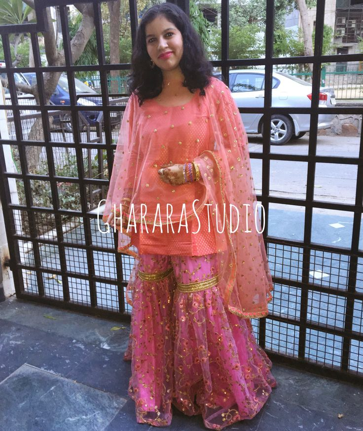 Gharara in Pink & Peach. Designed for my cousins.   #gharara #ghararastudio #ghararastudiobyshazia #redgharara #bridalgharara #bridal #wedding #weddingdress #fashion #fashionstyle #instafashion #fashiongram #fashiondiaries #blog #blogger #fashionblogger #indianfashion #indiandress #ethnic #traditional #delhi #buyghararaonline #traditionalbride #weddingphotography #indianwedding #hautecouture #outfit #classy #asianbridalsblog
