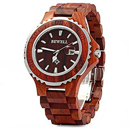 Bewell 100BG Wooden Watch Analog Quartz Light Weight Vintage Wrist Watch for Men – Wooden Watches Store